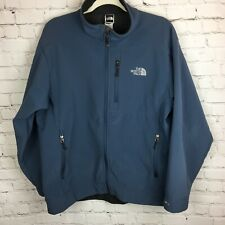 Blue THE NORTH FACE Soft Shell Zip Front Fleece Lined Jacket Man's Large