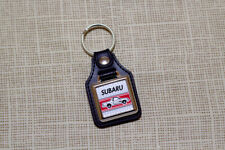 Subaru Brat / Brumby / MV Keyring - Leatherette & Chrome Keytag