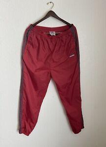 Vintage 90's Adidas Sweatpants Joggers Nylon Windbreaker Pants Red XXL