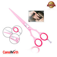 Hairdressing Barber Scissor Razor Sharp Japanese Salon Hair Cutting Shears Pink