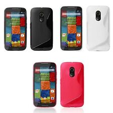 Case For Motorola Moto X + 1 S-Line Silicone Gel Tough Shockproof Phone Cover