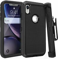 iPhone 11 Pro XS Max X XR  7 Plus Shockproof Defender Case w/Holster Belt Clip