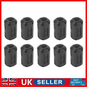 10x 5mm Clip-on Ferrite Ring Core Ferrite Bead Choke EMI Filter Cable Clip UK