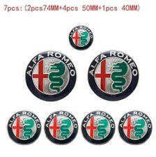 Lot 7 pcs Alfa Romeo Stickers Autocollants 40 / 50 / 74 mm Mito 147 logo 2015