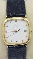 Omega Homme De Ville quartz date plaqué or Swiss watch cal 1430