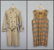 Vintage Womens Burberrys Trench Coat Nova Check Belt 2 in 1 SZ 10 EX Long