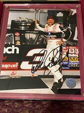 Dale Earnhardt Sr Framed autographed Signed Picture CREW PIT TEAM NASCAR #3 COA
