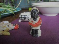 vintage figurine Black Americana boy watermelon Marked Japan