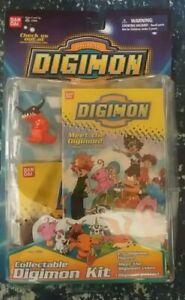Vintage 2000 Digimon Collectable Kit - Poster, Figure and VHS *NIB* Greymon