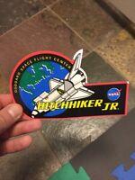 NASA SHUTTLE HITCHHIKER JR.SMALL PAYLOADS GODDARD SPACE CENTER  Sticker.  RARE!