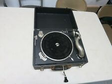 "VINTAGE RARE GENERAL INDUSTRIES ""JUNIOR"" HAND CRANK PHONOGRAPH WORKING"