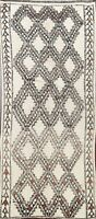 Antique Authentic Moroccan Vegetable Dye Hand-knotted Runner Rug Plush Wool 6x11