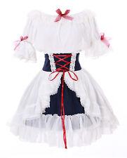 jl-642 White Ruffle Chiffon Blouse & Skirt Dress Victorian Gothic Lolita Cosplay