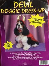 "Dogs Dress Up. Devil Horns & Cape. Neck 16 1/2"". Cape 19""L By 20"" Size S"