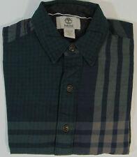 Mens TIMBERLAND Check Collared Shirt Work lumberjack Long Sleeve NEW RRP 70