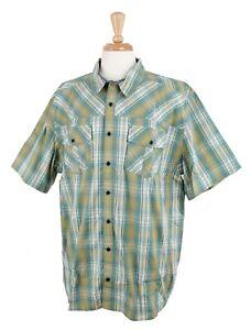 5.11 Tactical Men's Shirt Covert Double Flex Quick Dry Short Sleeve Agave 2XL