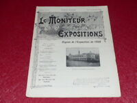 [REVUE EXPOSITION UNIVERSELLE 1900] LE MONITEUR DE 1900 N° 74 #  AVRIL 1900