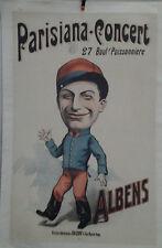 AFFICHE ORIGINALE ANCIENNE PARISIANA CONCERT ALBENS AFFICHES AMERICAINES CH LEVY