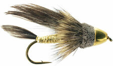 Fly Fishing Flies (Bass, Bream, Trout, Salmon, Perch) CH Muddler Minnow (6)