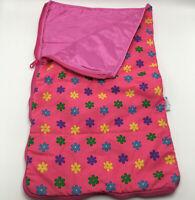 Build A Bear Workshop Pink Purple Blue Flower Sleeping Bag Plush Doll Accessory