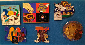 2002 Salt Lake Winter Olympic Games Mascots Collectable 6 Pin Set