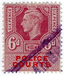(I.B) George VI Revenue : Police Courts 6d