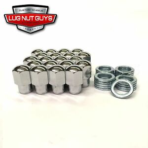 "20 Lug Nuts 7/16-20 Chrome Mag Wheel Nut .55"" Shank Chevrolet Nova Monte Carlo"