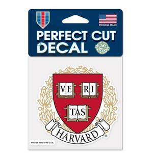 "Harvard Crimson 4""x4"" Perfect Cut Car Decal [NEW] NCAA Auto Sticker Emblem"
