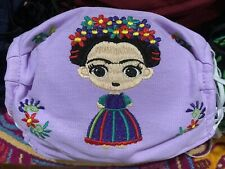 Frida Mexican Artisan Face Mask Handmade Embroidered