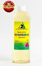 Red Raspberry Seed Oil Refined Organic Carrier Pure Cold Pressed 16 Oz