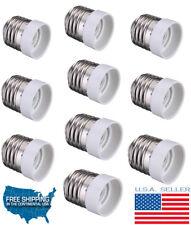 E27 To E14 Base Screw LED Light Lamp Bulb Holder Adapter Converter Pack OF 10 US