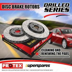 Pair Rear Premium Quality Protex Disc Brake Rotors for Ferrari 512 TR F512 M