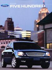 2006 Ford 500 Five Hundred Original Sales Brochure