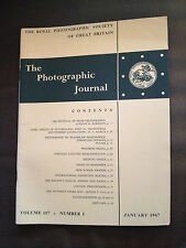JAN 1967 THE PHOTOGRAPHIC JOURNAL (ROYAL PHOTOGRAPHIC SOCIETY OF GREAT BRITAIN)
