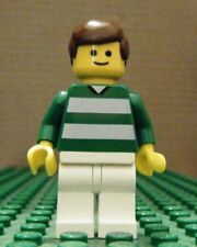 LEGO MINIFIGURE– SPORTS – SOCCER – GREEN & WHITE TEAM #2 – GENTLY USED