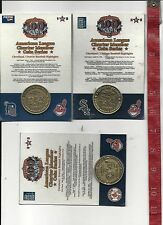set of three American league Charter Member coins Cleveland Indians FREE SHIPPIN