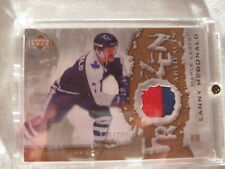 2007-08 UD Artifacts Hockey #FA-LM Lanny McDonald! Frozen Swatch Jersey Leafs