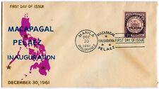 Philippine MACAPAGAL-PALEZ Inauguration 1961 FDC