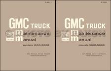 1965-1966 GMC Truck Repair Shop Manual 1000-5000 Pickup Suburban Panel