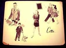 1960s Original Advertising Art - Cotton School Clothes
