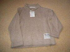 New With Tags Beige Fine Knitted Sweater by Next in Size 4  Years 104cms