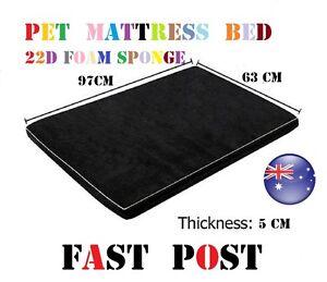 TOP Pet Dog Anti Skid Sleep High Density Foam Sponge Mattress Bed 97X63CM Black