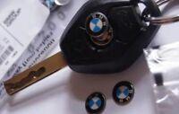 BMW Schlüssel Aufkleber Emblem Fernbedienung Aluminium Logo 11 mm NEU