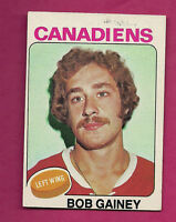 1975-76 TOPPS # 278 CANADIENS BOB GAINEY 2ND YEAR  CARD