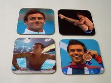 Tom Daley Buceo olímpico héroe conjunto de posavasos de natación