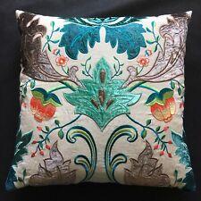 "Osborne & Little Fabric Cushion Cover VICEROY Matthew Williamson Design 20"" Teal"