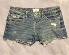 Aeropostale Women's Distressed Destroyed Booty Short Shorts Size 1/2