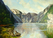 Pintura de paisaje Pintura al óleo pintura Imagen firmado B-29