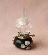 DOLLS HOUSE A BEAUTIFUL SINGLE MURANO GLASS BASE OIL LAMP WITH WICK WHEEL