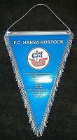 *Rar* Großer Wimpel 38 cm FC Hansa Rostock Bundesliga DDR Oberliga FCH Kogge